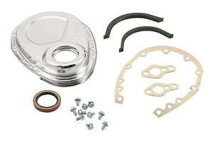 Engine Timing Cover Small Block Chevy Chrome Kit Mr Gasket 4590