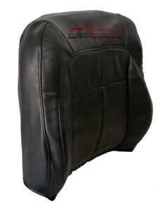 99 04 Jeep Grand Cherokee Driver Leanback Synthetic Leather Seat Cover Dark Gray
