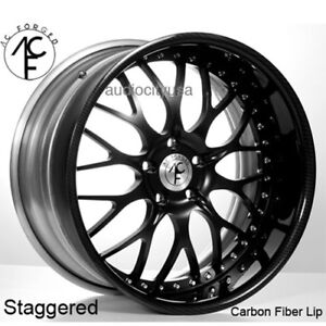 22 Staggered Ac Forged Wheels Rims 313 Carbon Fiber 3 Pcs Fs