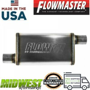 Flowmaster Fx Stainless Steel Muffler 2 5in Offset Inlet 2 5in Offset Outlet