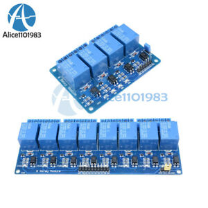 1 2 5 10pcs 4 8 channel Relay Module Optocoupler 5v For Arduino Pic Avr Dsp Arm