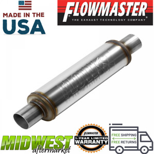 Flowmaster Fx Stainless Steel Round Body Muffler With 2 25in Inlet Outlet