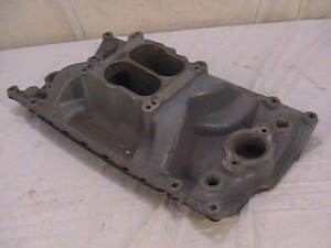 Vortec Chevy Intake Manifold Sbc Marine W Brass Inserts 4 Bbl Pcm Small Block