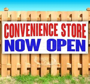 Convenience Store Now Open Advertising Vinyl Banner Flag Sign Many Sizes