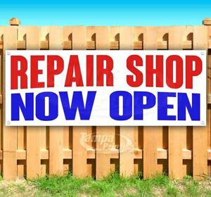 Repair Shop Now Open Advertising Vinyl Banner Flag Sign Many Sizes