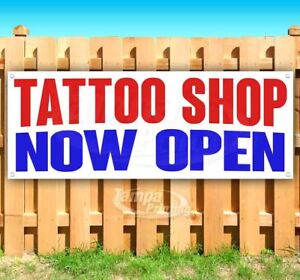 Tattoo Shop Now Open Advertising Vinyl Banner Flag Sign Many Sizes