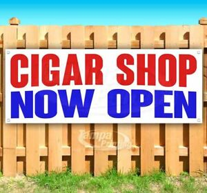 Cigar Shop Now Open Advertising Vinyl Banner Flag Sign Many Sizes