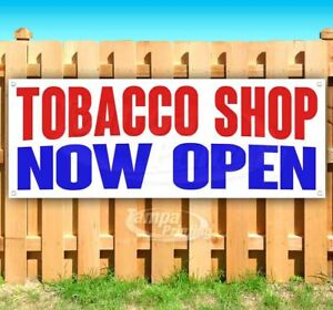 Tobacco Shop Now Open Advertising Vinyl Banner Flag Sign Many Sizes