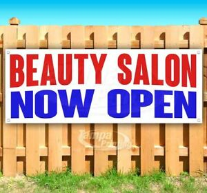Beauty Salon Now Open Advertising Vinyl Banner Flag Sign Many Sizes