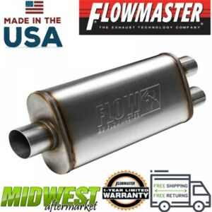 Flowmaster Fx Stainless Steel Muffler 3in Centered Inlet 2 5in Dual Outlet