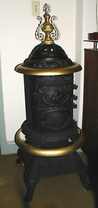 Rare Parlor Stove Jewel Live Oak No 14 Nice Coal Or Wood Fully Functioning