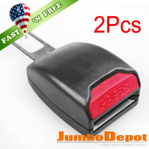 Us 2pcs Black Car Seat Belt Extender Safety Eliminator Alarm Stopper For Toyota