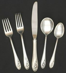 Gorham Lily Of The Valley Sterling 5 Piece Place Setting 6036324