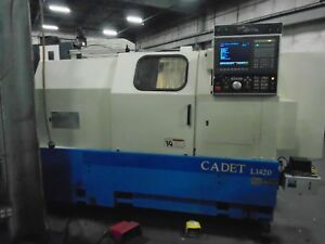 Okuma Cadet L1420 Cnc Lathe Osp5020 Control With Video