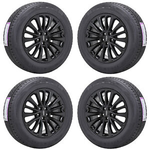 18 Lincoln Mkx Gloss Black Wheels Rims Tires Factory Oem Set 4 10072