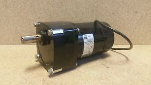 Bodine Dc Gearmotor 1 8hp 130vdc 21 Rpm 4173xrcr0013 tested Good S3