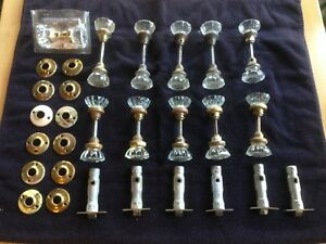 Lot Of 22 11 Sets Vintage Glass Door Knobs Hardware