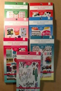 Set Of 7 American Crafts Sticker Books Color Magic Every Day Planner