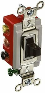 Hubbell Hbl1386 Toggle Double Pole Double Throw Center Off 20 Amp 120 277v