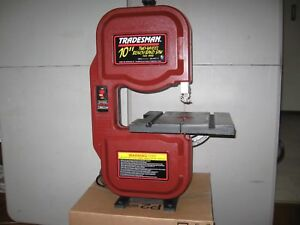 10 Inch Tradesman Band Saw With 2 New Blades And Rubber Wheel