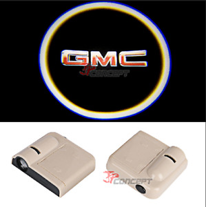 2x Wireless Car Door Welcome Laser Projector Light Led Ghost Shadow Lamp For Gmc