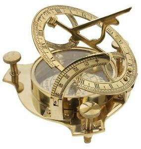4 Sundial Compass Solid Brass Sun Dial Compasses Maritime Antiques