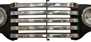 1948 1949 1950 Ford Pickup Truck Stainless Grill Bar Trim Set W Crankhole
