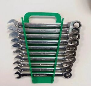 Used Sk Tools 10 Piece Metric G pro Ratcheting Spline Wrench Set Ratchet 80019