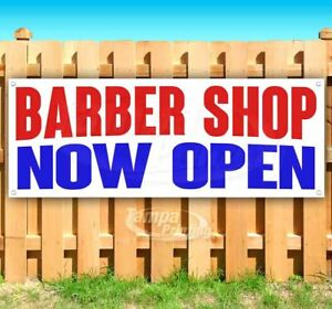 Barber Shop Now Open Advertising Vinyl Banner Flag Sign Many Sizes