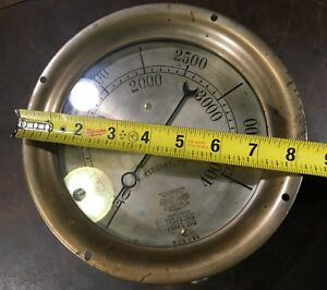Rare 1908 Pat Crosby Steam Gauge Brass Antique 8