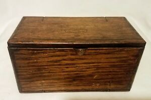 Unfolding Vintage Wooden Sewing Box Cloth Lining Patented February 19 1889