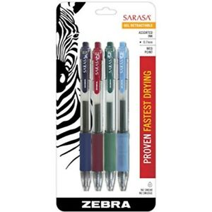 Zebra Sarasa Retractable Gel Ink Pens Medium Point 0 7mm Fashion Assorted Col