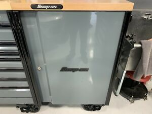 Snap On Epiq Tool Box End Cabinet Storm Grey Power Butcher Block Top Blackout