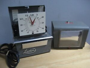 Vintage Black Lathem Model 4051 Time Clock Doesn t Work No Key For Parts Repair