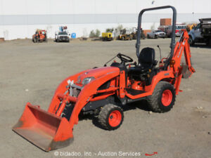 2012 Kubota Bx25d 4wd Backhoe Wheel Loader Ag Tractor 23hp Pto 2 spd Bidadoo