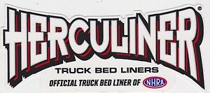 Herculiner Truck Bed Liners Sticker Official Nhra Racing Decal Toolbox Cars Usa