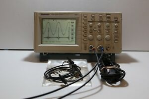 Tektronix Tds 220 100mhz 1gs s Two Channel Digital Oscilloscope Dso Probe