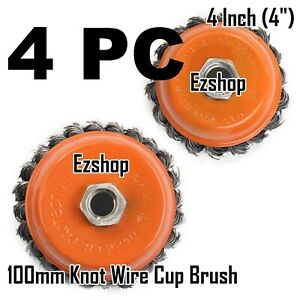 4 Wire Cup Brush Wheel 4 100mm For 4 1 2 115mm Angle Grinder Twist Knot