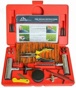 Heavy Duty Tire Repair Kit For Car Jeep Flat Tire Puncture Repair Kit 56 Pc