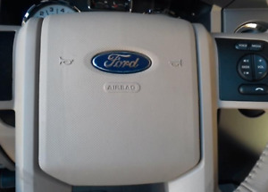 2007 2014 Ford Expedition Left Driver Side Steering Wheel Airbag Tan Oem