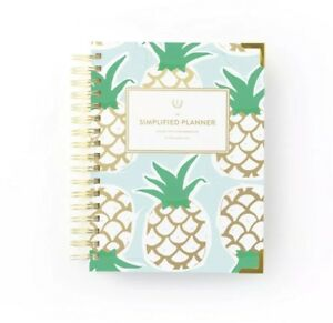Emily Ley 2019 Daily Simplified Planner Mint Pineapple Brand New In Box Sealed