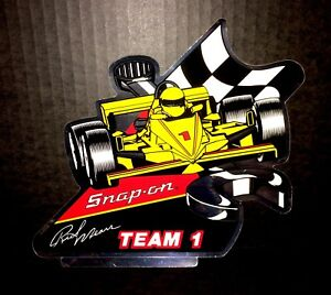 Vintage Snap On Tools 7x7 Rick Mears Indy Foil Decal Sticker New Old Stock