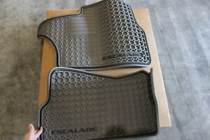 New Gm Oem Cadillac Escalade Gray Rubber Front Floor Mats 2002 2006 12497330