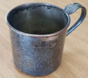 Vintage 1881 Rogers Sterling Silver Plated Baby Cup