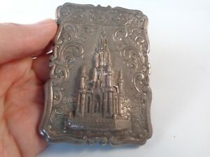 Victorian Silver Card Case 1856 Scott Memorial