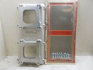 Edelbrock Street Tunnel Ram Top And Hardware Nos
