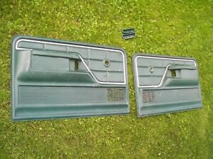 73 79 Ford Truck 78 79 Ford Bronco Green Door Panels Armrests Pair Oem