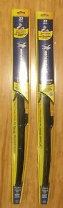 2x Michelin Stealth Ultra Wiper Blade With Smart Technology 22 Inches Pair