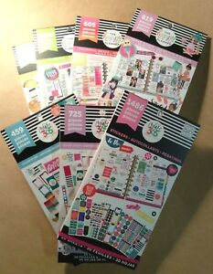 Set Of 7 Me My Big Ideas The Happy Planner Sticker Books Food Brights Plus