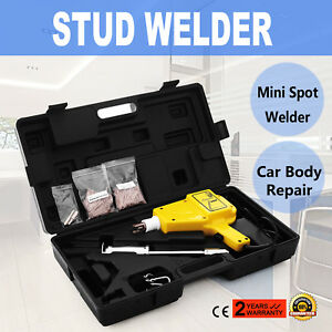 Auto Body Stud Welder Gun And Slide Hammer Dent Repair Kit W Studs